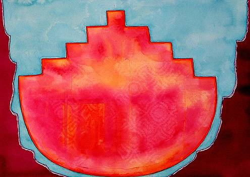 Fat Sunrise original painting by Sol Luckman