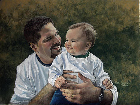 Father and Son by Artist Karen Barton
