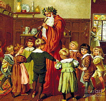 British Library - Father Christmas And Children 1894