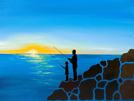 Father Daughter Fishing Trip by Emily Brantley