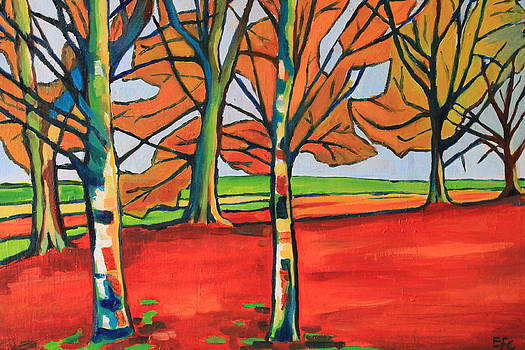 Fauvist Wood by Emma Cownie