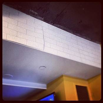 Faux-brick Wallpaper Isn't Very by Caitlin Kunzle