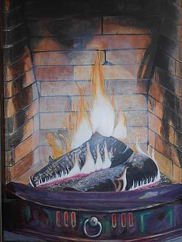 Faux Log Fire by David Paterson