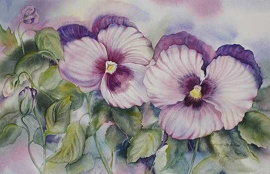 Favourite Garden Pansies by Heather Gallup