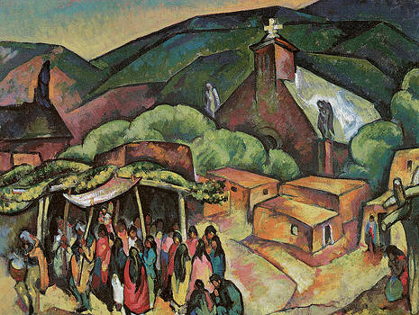 William Penhallow Henderson - Feast Day San Juan Pueblo