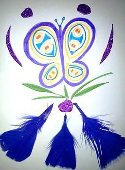 Feather Butterfly by Karen Jensen
