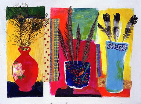 Diane Fine - Feathered Triptych
