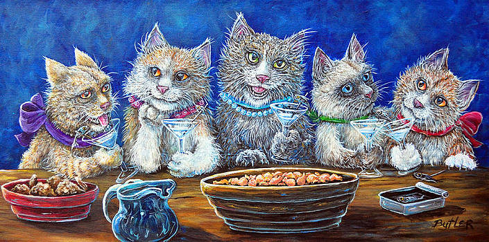 Felines After Five by Gail Butler