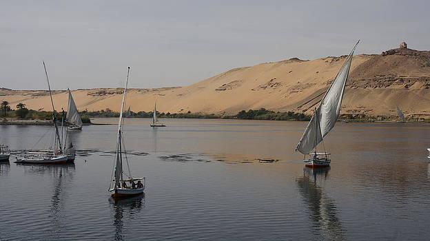 Felucca at Aswan by Olaf Christian