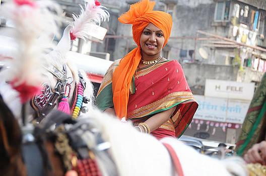 Female warrior by Money Sharma