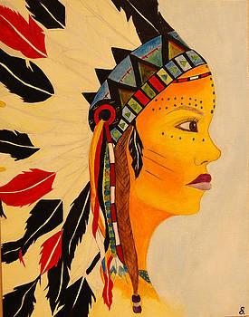 Female Warrior  by Onana Malik-Silverio