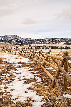 Fence and Sleeping Giant by Sue Smith