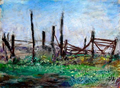 Fence line by Toshiko Tanimoto