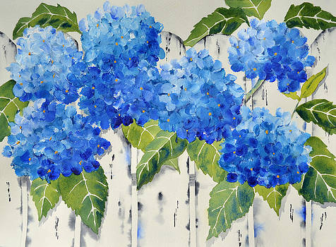 Fenced in Flowers by Carol Bruno