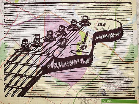 William Cauthern - Fender Strat on Map