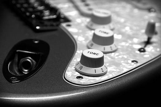 John Cardamone - Fender Stratocaster Electronics Detail Black and White