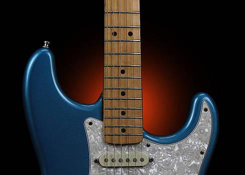 John Cardamone - Fender Stratocaster in Blue Sparkle Cutaway Detail