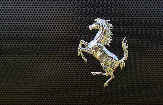Ferrari chrome Emblem by Dick Wood