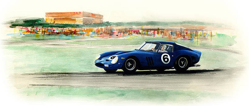 Ferrari GTO racing Lemans by Stan Sweeney