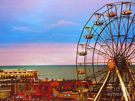 Ocean City New Jersey Ferris Wheel And Music Pier by Beth Ferris Sale