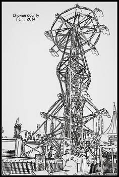 Ferris Wheel in Black and White by Carolyn Ricks
