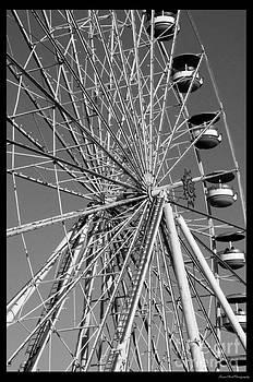 Ferris Wheel in Black and White by Susan Cliett