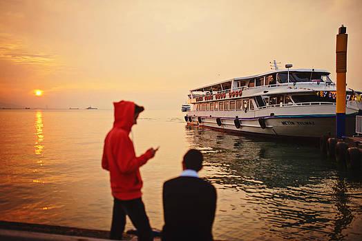 Ferry at Alsancak by Ilker Goksen