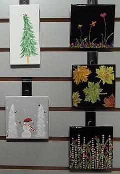 Festive Decorative Tiles by Joyce Kerr