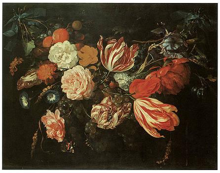 Jan Davidsz De Heem - Festoon of Flowers