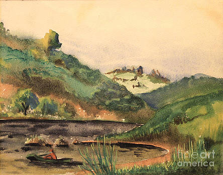 Art By Tolpo Collection - Fhishing in the Blue Ridge - 1939