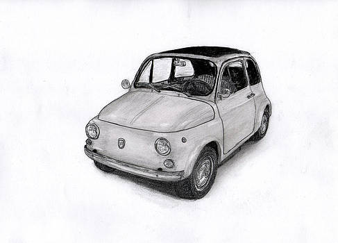 Fiat 500 car. by Kokas Art