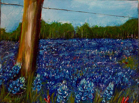 Field of Blue in Acrylic by Shere Crossman