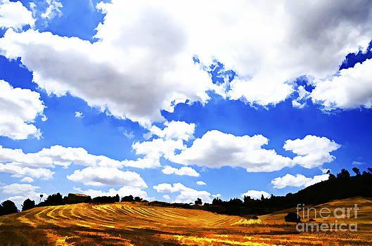 Sharon Tate Soberon - Field of Clouds digital paint effect