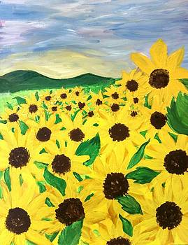 Field of Sun by Tammy Cote