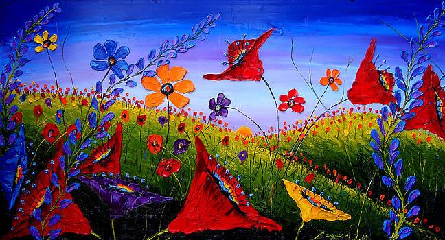 Field Of Wildflowers 10 by Portland Art Creations
