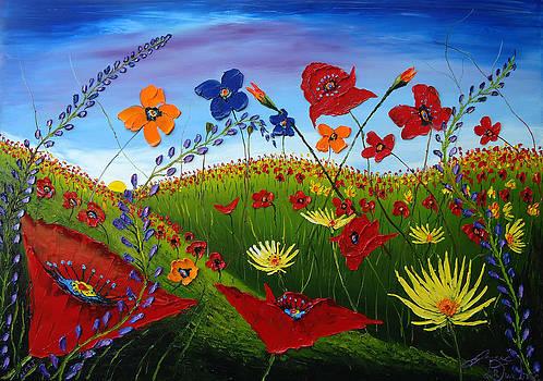 Field Of Wildflowers 5 by Portland Art Creations