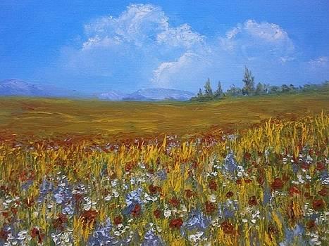 Fields and mountains by Yaroslav Kuvshinov