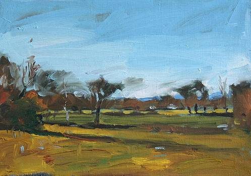 Fields in autumn by Owen Hunt