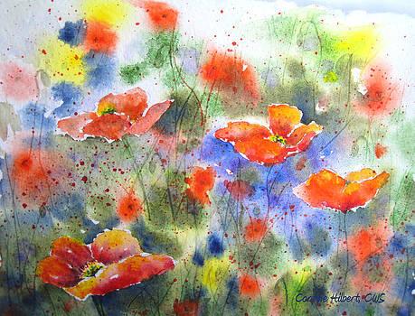 Fiery Poppies by Corynne Hilbert