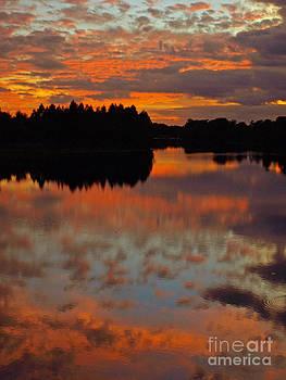 Fiery Sky at Sunset by Virginia Zuelsdorf