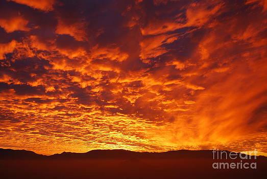 Fiery sky by Susan Hernandez