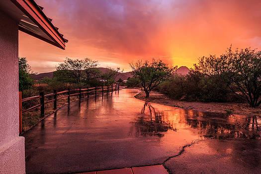 Fiery Sunset by Beverly Parks