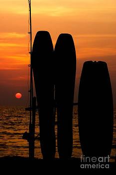 Fiery Sunset Goa India by Neville Bulsara