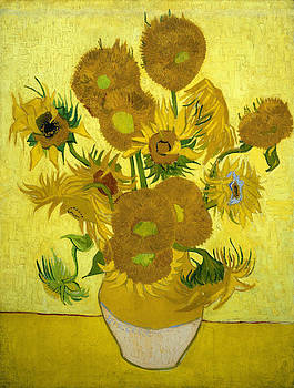 Fifteen Sunflowers by Masterpieces Of Art Gallery