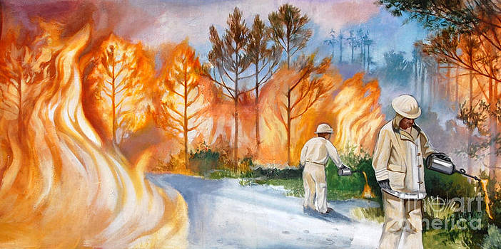 Linda Rae Cuthbertson - Fighting a Fire