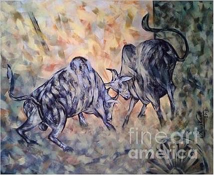 Fighting Bull by Shivakant Shekhar