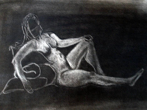 Figure Drawing by Corina Bishop