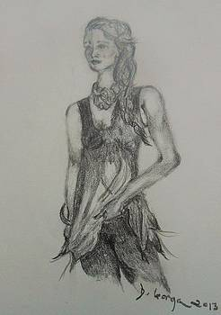 Figure Drawing by Deborah Gorga