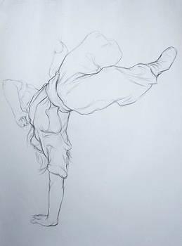Figure Study of Ukrainian Dancer by Jennifer Soriano