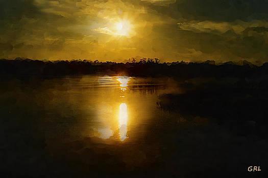 G Linsenmayer - FINE ART DIGITAL PAINTING SUNSET WEEKI WACHEE FLORIDA